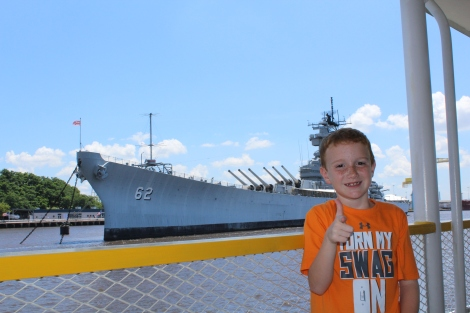 We saw the New Jersey battleship on the ferry ride to New Jersey
