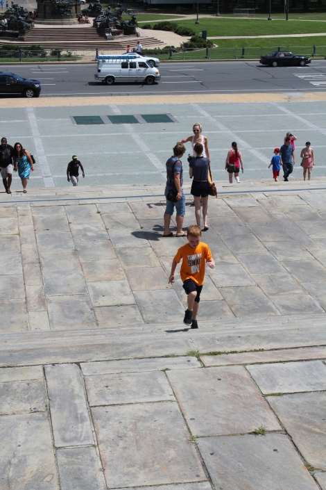 Running up the Rocky stairs